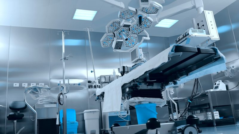 Surgical operating room with equipment